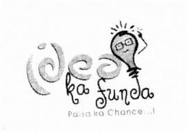 IDEA KA FUNDA PAISA KA CHANCE...!