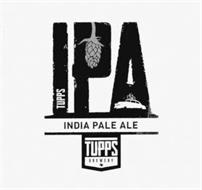 TUPPS IPA INDIA PALE ALE TUPPS BREWERY