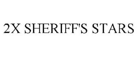 2X SHERIFF'S STARS