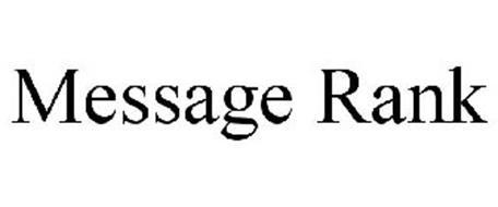 MESSAGE RANK