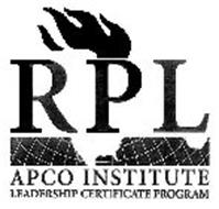 RPL APCO INSTITUTE LEADERSHIP CERTIFICATE PROGRAM