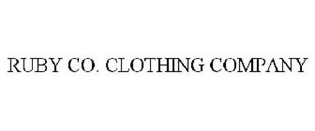 RUBY CO. CLOTHING COMPANY