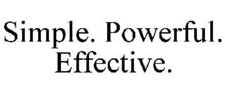 SIMPLE. POWERFUL. EFFECTIVE.