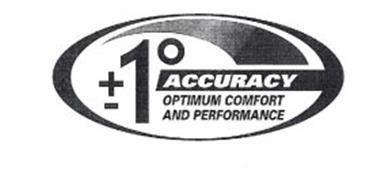 ±1° ACCURACY OPTIMUM COMFORT AND PERFORMANCE
