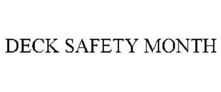 DECK SAFETY MONTH