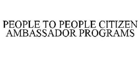 PEOPLE TO PEOPLE CITIZEN AMBASSADOR PROGRAMS