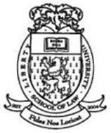 LIBERTY UNIVERSITY SCHOOL OF LAW FIDES NOS LORICAT EST 2004