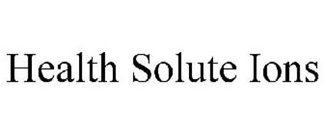 HEALTH SOLUTE IONS