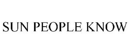 SUN PEOPLE KNOW
