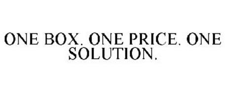 ONE BOX. ONE PRICE. ONE SOLUTION.