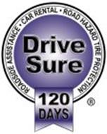 DRIVE SURE 120 DAYS ROADSIDE ASSISTANCE · CAR RENTAL · ROAD HAZARD TIRE PROTECTION
