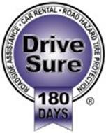 DRIVE SURE 180 DAYS ROADSIDE ASSISTANCE · RENTAL CAR · ROAD HAZARD TIRE PROTECTION