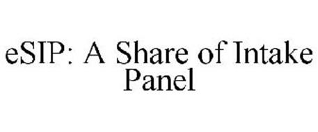 ESIP: A SHARE OF INTAKE PANEL