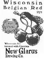 WISCONSIN BELGIAN RED STYLE WISCONSIN ALE BREWED WITH CHERRIES WORLD CHAMPION NEW GLARUS BREWING CO.