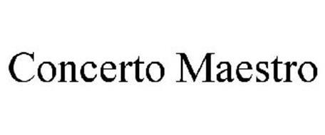 CONCERTO MAESTRO