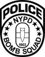 POLICE NYPD 1903 BOMB SQUAD