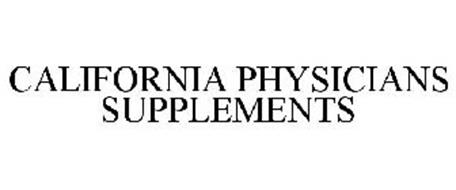 CALIFORNIA PHYSICIANS SUPPLEMENTS