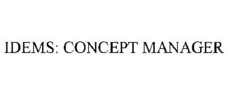 IDEMS: CONCEPT MANAGER