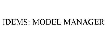 IDEMS: MODEL MANAGER