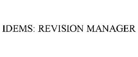IDEMS: REVISION MANAGER