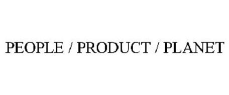 PEOPLE / PRODUCT / PLANET