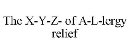 THE X-Y-Z- OF A-L-LERGY RELIEF
