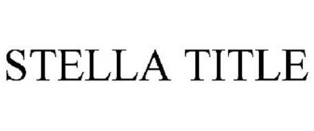 STELLA TITLE