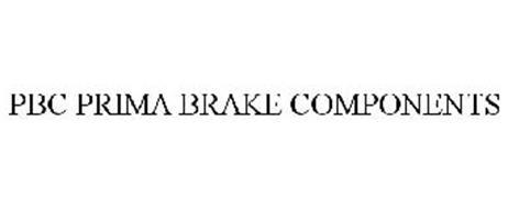 PBC PRIMA BRAKE COMPONENTS