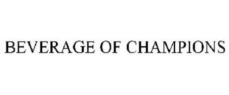 BEVERAGE OF CHAMPIONS