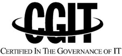 CGIT CERTIFIED IN THE GOVERNANCE OF IT