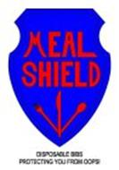 MEAL SHIELD DISPOSABLE BIBS PROTECTING YOU FROM THE OOPS!