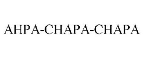 AHPA-CHAPA-CHAPA