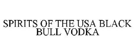 SPIRITS OF THE USA BLACK BULL VODKA