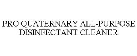 PRO QUATERNARY ALL-PURPOSE DISINFECTANTCLEANER
