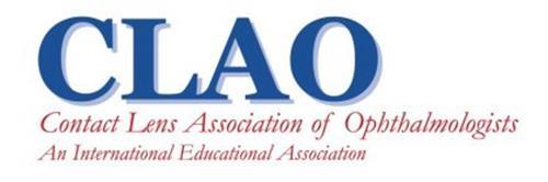 CLAO CONTACT LENS ASSOCIATION OF OPHTHALMOLOGISTS AN INTERNATIONAL EDUCATIONAL ASSOCIATION
