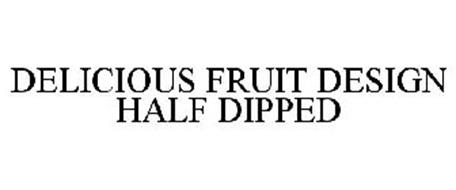 DELICIOUS FRUIT DESIGN HALF DIPPED