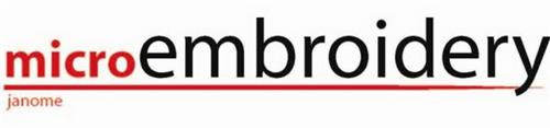 MICROEMBROIDERY JANOME