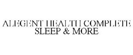 ALEGENT HEALTH COMPLETE SLEEP & MORE