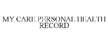MY CARE PERSONAL HEALTH RECORD