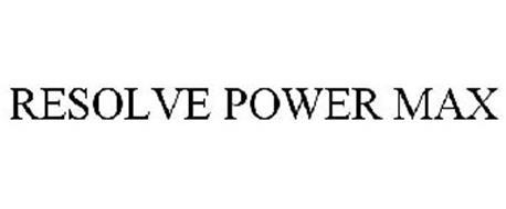 RESOLVE POWER MAX
