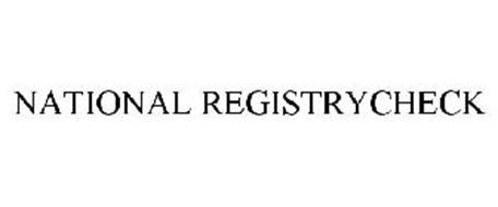 NATIONAL REGISTRYCHECK