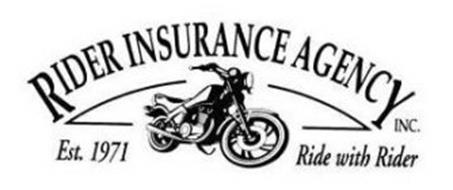 RIDER INSURANCE AGENCY INC. EST. 1971 RIDE WITH RIDER