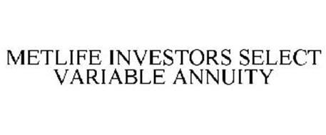 METLIFE INVESTORS SELECT VARIABLE ANNUITY