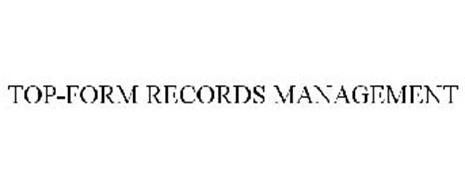 TOP-FORM RECORDS MANAGEMENT