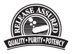 RELEASE ASSURED QUALITY · PURITY · POTENCY