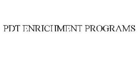 PDT ENRICHMENT PROGRAMS