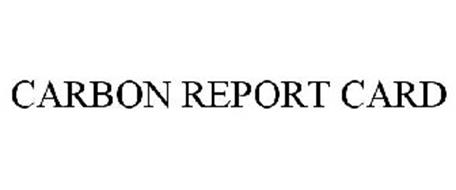 CARBON REPORT CARD