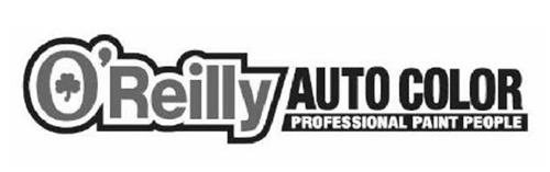 O'REILLY AUTO COLOR PROFESSIONAL PAINT PEOPLE