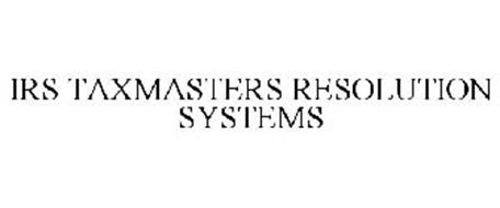 IRS TAXMASTERS RESOLUTION SYSTEMS