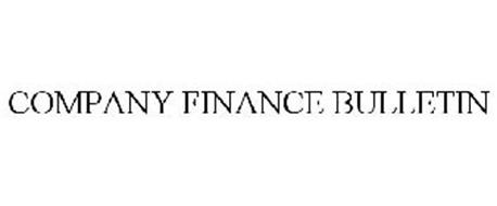 COMPANY FINANCE BULLETIN